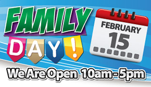 We Are Open on Family Day