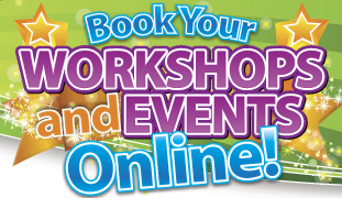 Book Your Workshop and Event Online Today!